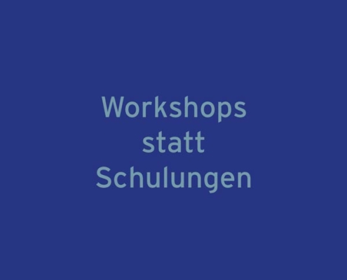 """Thumbnail """"Workshop statt Schulung"""""""